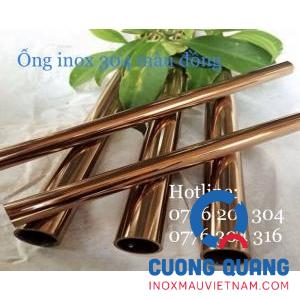 Stainless steel pipe color copper
